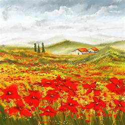 field of dreams poppy field paintings painting by lourry legarde
