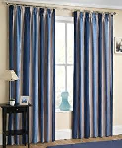 amazon com blue cream beige blockout striped curtains