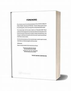 Toyota Forklift 7fgu35 Service Manual