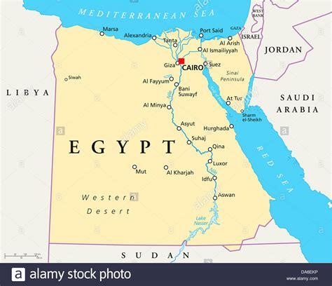map  egypt stock photo  alamy