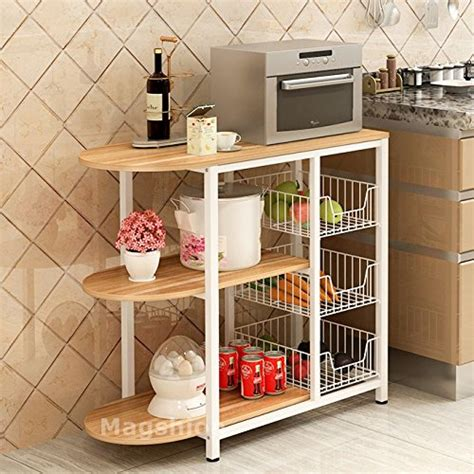 kitchen island with storage cabinets magshion kitchen island dining baker cabinet basket 8269