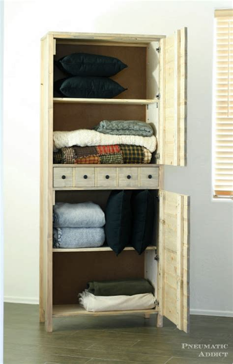 diy linen cabinet by pneumatic addict diy done right
