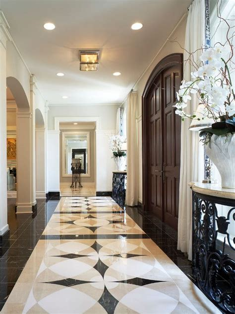 Marble Floor Design Palmbeachhousetraditionalentry