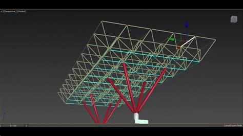 media pembelajaran atap bentuk rangka atap space frame youtube