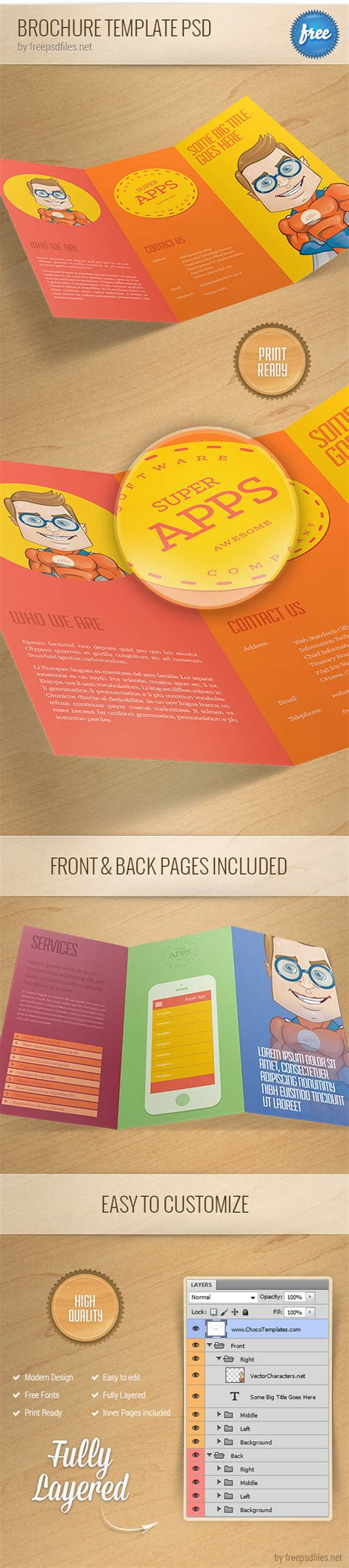 Psd Brochure Template by 25 Best Free Psd Brochure Templates Free Psd Templates