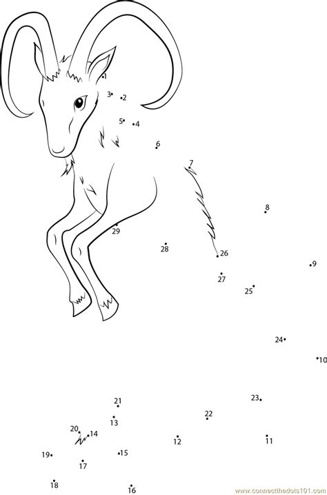 constellation of capricorn worksheet capricorn the sea goat dot to dot printable worksheet