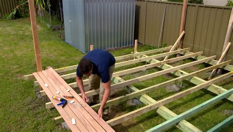 how to build a patio how to build a low deck how to build a deck properly