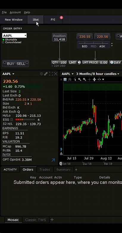 Ibot Brokers Interactive Interactivebrokers Order Percent Algo