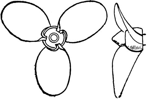 Boat Propeller Drawing by Propeller Ship Drawing