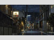 anime edit rain anime scenery Uchoten Kazoku ririneko •
