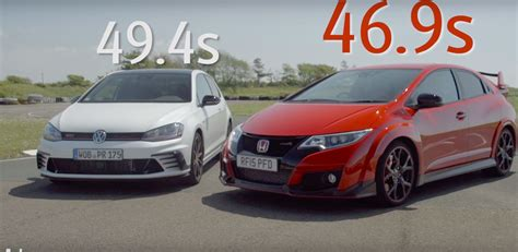 siege golf 1 gti golf gti clubsport humiliated by civic type r in