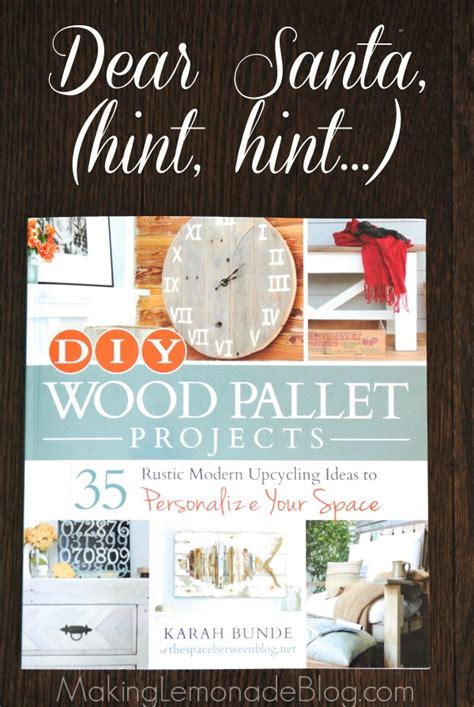 diy wood pallet projects book review  giveaway