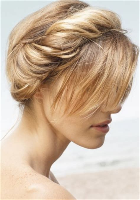 chignon couronne avec frange franck provost coiffure hair inspirations franck