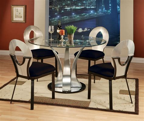 contemporary glass top table with 4 chair lowest
