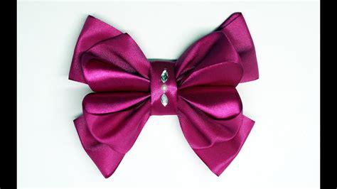 diy crafts how to make simple easy bow ribbon hair bow tutorial diy ribbon bow diy and