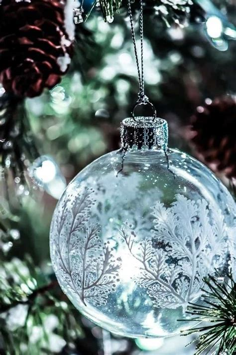 15 clear christmas glass ornaments