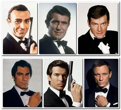 Bond James Actors Six Together Connery Dalton