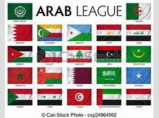 Arab league arab member countries stock illustration