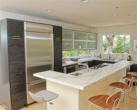 small contemporary kitchens modern small kitchen design with cherry wood cabinets 2333