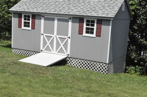 loren storage shed foundation   slope