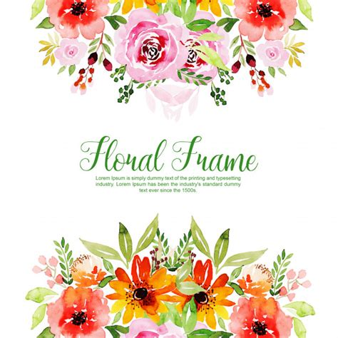 watercolor floral frame multi purpose background vector