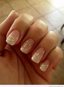 Glitter french manicure for Christmas | Summer nails ...