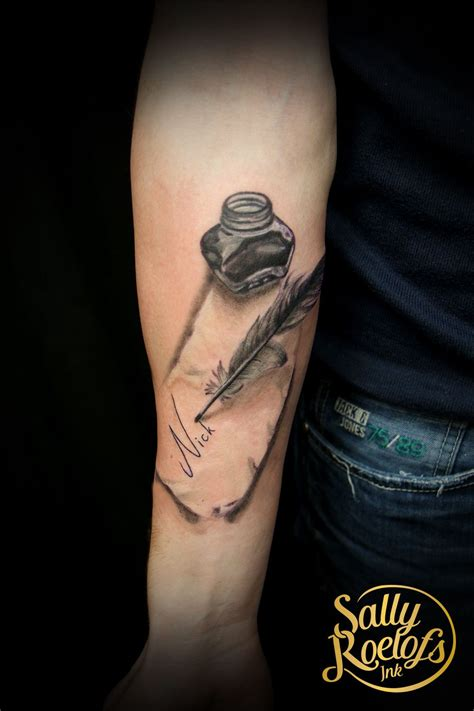 feather  inkwell  piece  paper tattoo tattoos