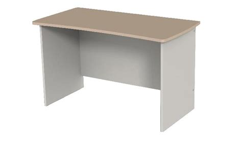 bureau simple table bureau curve arès simple 120x60 cm côté gris