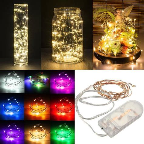led garland xmas lights 2m 20 led battery operated led copper wire string lights