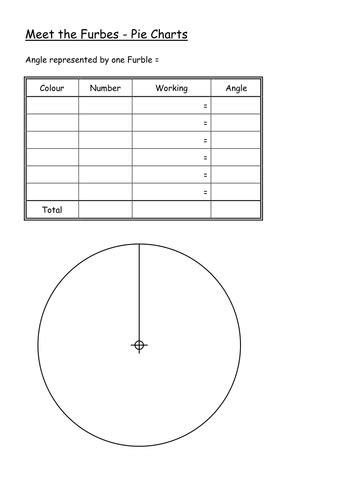ks3 worksheet l6 pie charts meet the furbles by