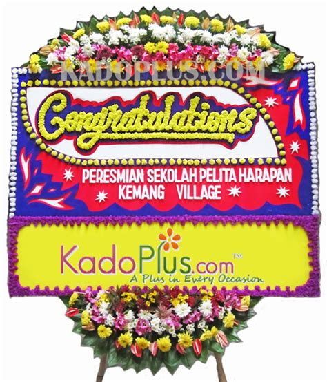 bunga papan congratulation deluxe  toko bunga