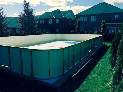 Backyard Rink Tips by Backyard In Stouffville Ontario A 30 X 48 Surface