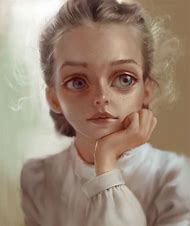 Realistic Girl Drawing Art