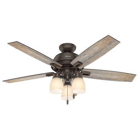 hunter fan ceiling fan light kit shop hunter donegan 52 in onyx bengal bronze downrod or