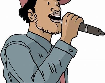 Rap Rapper Cartoon Clipart Artist Transparent Jing
