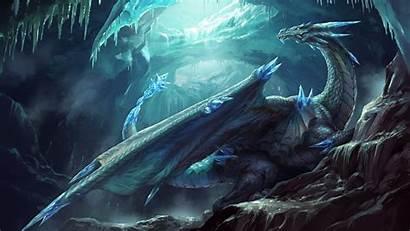Dragon Ice Thrones Dragons Wallpapers 4k Illustration