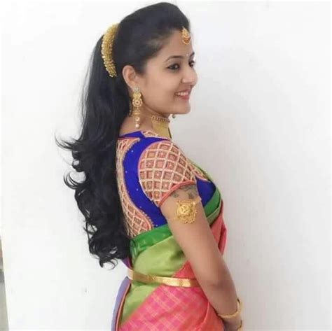 simple reception hairstyles hair styles   saree