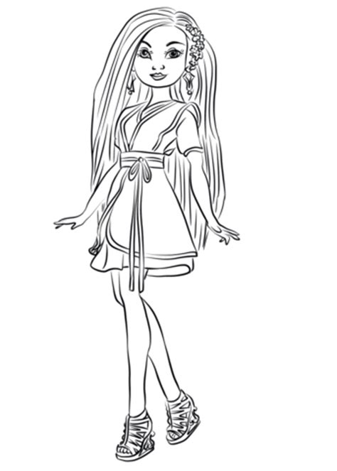 lonnie  descendants wicked world coloring page  printable coloring pages
