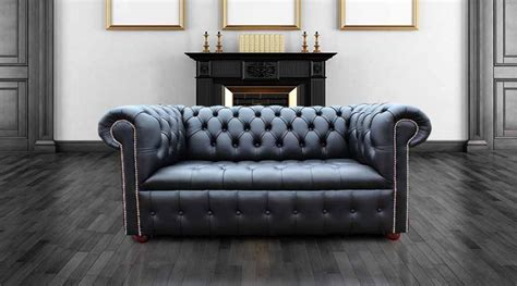 Black Leather Settees For Sale by Chesterfield 2 Seater Settee Sofa Buttoned Seat Ivory