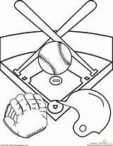 Baseball Diamond Sports Coloring Pages Worksheet Field Education Fun Drawing Printable Kindergarten Activities Worksheets Sheets Helmet Astros Template Stadium Summer sketch template