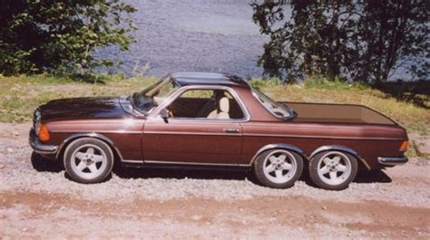 mercedes 6 wheel pickup w123 ute 6 wheeler