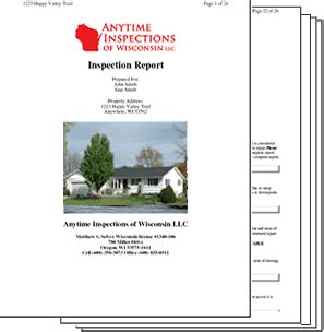 home inspection report wisconsin home inspection report sles
