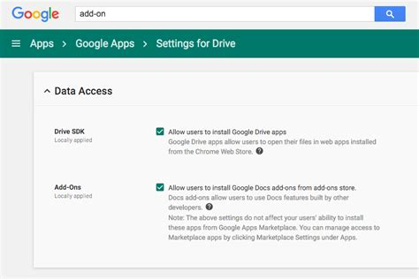 Google Add-ons Not Working for Google Apps