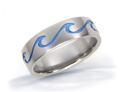 ocean wave ring jewelry ocean ring ring wave titanium ring ocean jewelry