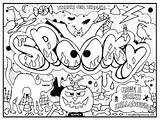Coloring Graffiti Pages Printable sketch template
