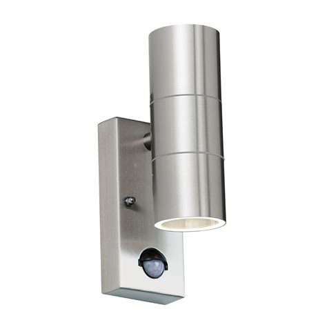 endon canon pir up down outdoor wall light ip44 35w