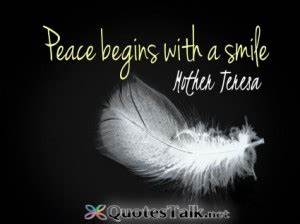 Mother Teresa Q... Peace And Smile Quotes