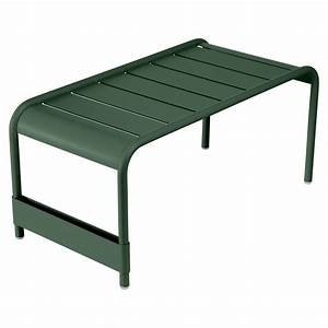 luxembourg low table garden bench by fermob With tables de jardin fermob