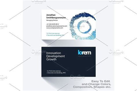 vector business card template   grunge colourful