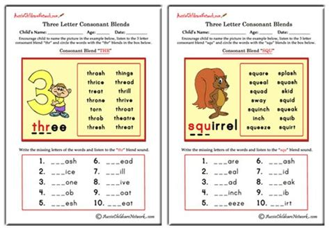 letter blends beginning consonant blends aussie